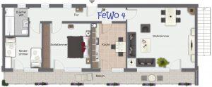 Gästehaus Friedlich - Grundriss FeWo4