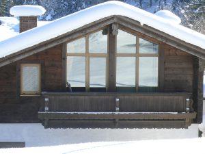 Gästehaus Friedlich - Zimmer 12 Pferdewiese von außen - Winter