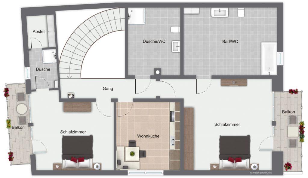 Gästehaus Friedlich - Grundriss FeWo5